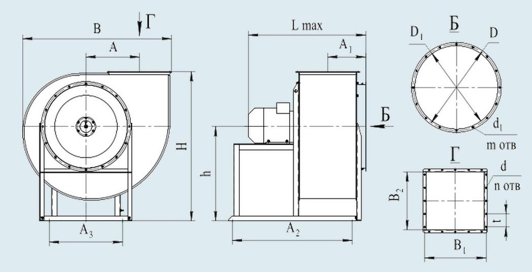 Вентилятор ВЦ 14 46 характеристики