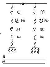 Схема однолинейная ЩО 70 1 11, ЩО 70 1 12